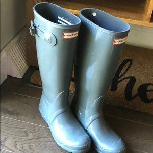 Grey Tall Hunter boots